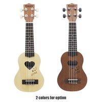 Wholesale New Arrival quot Mini Ukulele Ukelele Spruce Sapele Top Rosewood Fretboard Stringed Instrument Strings with Gig Bag DHL I864