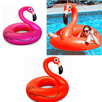 Wholesale 1 M Giant Swan Inflatable Flamingo Float Swan Inflatable Floats Swimming Ring Raft Swimming Pool Toys For Kids And Adult PPA256