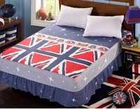 Wholesale Blue Tango Single double bedspread Bed Skirt Cotton Bed Skirt Twin Full Queen Size Bedclothes Counterpane Bed Sheets Home Textiles