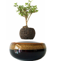 ceramic flower pots - 2016 Japan High tech Magnetic Levitating Air Bonsai Tree Floating Ceramic Pottery Personalized Gift No Plant D