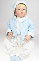 Wholesale 70cm big soft vinyl boy figure big toddler doll with handpainted baby doll face and rooted blonde short hair