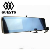 "Cheap 4.3""Car DVR Mirror Dual Camera with Rearview Camera Dual Camera GPS Rear view Mirror 5.0MP CMOS Lens Recorder Display+Night Vision Newest"