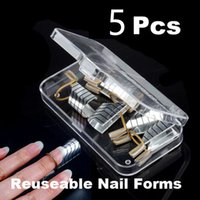 Wholesale 5 Reusable UV Gel Acrylic French Tips Nail Art extension guide form Tool