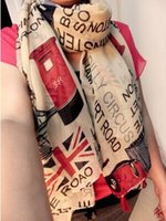 american flag shop - Union Jack flag of the United States European and American elements of fashion scarves letters JOLINA SHOP