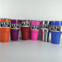 Wholesale Yeti oz Yeti Cups Yeti Coolers Large Capacity YETI Tumbler Mugs Double Wall Vacuum Insulated Travel Mug with lid IN STOCK