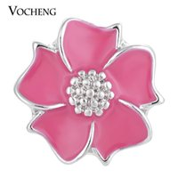 alloy paint colors - VOCHENG NOOSA Ginger Snaps Colors mm Hand Painted Flower Charms Alloy Button Vn