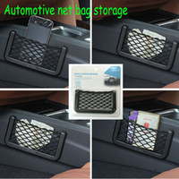 Wholesale New Car Storage Net Automotive Pocket Organizer Bag For Mobile Phone Holder Auto Pouch Adhesive Visor Box Car Accessories