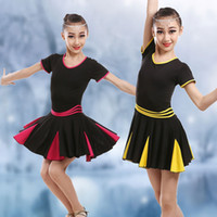 ballet dance class - Child Children Girl Ballet Dance Dress For Girls Cha Cha Class Latin Dress Ballet Dancing Short Sleeve Dancewear Kid Latin Costume