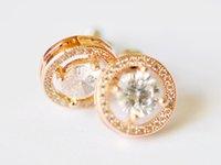 zirconia stud earrings - 2016 New Fashion diamond jewellery S925 silver jewellery diamond earring Luxury Stud Earrings for women wedding dresses
