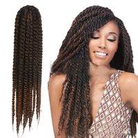 Wholesale Woman cm Quality Havana Mambo Twist Crochet Braid afro Kinky bulk Hair g strands set Synthetic braids Braiding Hair
