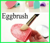 Wholesale Brushegg Silicone Brush Cleaning Egg Brush egg Cosmetic Makeup Brush Cleanser Make up Makeup Brush Cleaner Clean tools