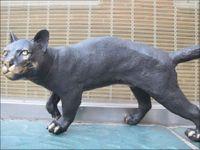 australian money - 16 quot Bronze Marble ART Australian black CAT Sculpture