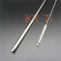 Wholesale GR2 Titanium Darking Straw With Brush mm Reusable ECO Metal Drinking Straw Bar Drinks Party Stag party gif VS Stainless Steel Straw Steel
