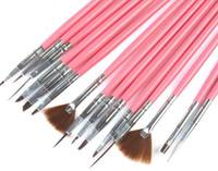 Wholesale Makeup Brushes Make up Brushes Professional Gel Polish Painting Nail Flower Art Pen Dotting Drawing Tool For Natural False D Beauty