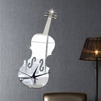 american violin - Mirror wall stickers fashion creative home notes violin Proof and waterproof European and American new home