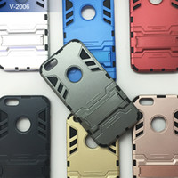able printing - fasion in1 Amor Hybrid PC and silicone Kickstand Slim Robot Armor Case for iphone backcover able to print customer logo