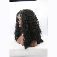 Wholesale Afro Kinky Curly Black Synthetic Lace Front Wig Heat Resistant Natural Looking High Quality Glueless Synthetic Wig For Black Women