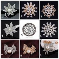 asian maple - Hot Fashion Elegant Brooch Maple Leafs Pearl Wedding Christmas Brooch Fashion Jewelry Women s Bra Pin Animal Brooches Gift Flower Shape