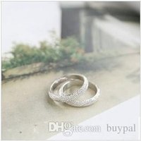 Wholesale Fashion accessories Simple Life LOVERS Rings Silver sanded finger Ring Love Forever wedding Ring RJ605 dd