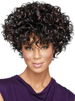 Wholesale fashionstep inch Afro Kinky Curly Wig Black Brown Ombre Colorful hair Synthetic women wigs for African American women Drag Queen