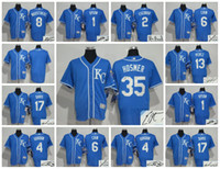 Wholesale Elite Kansas City Royals Custom Men Jersey Eric Hosmer Alcides Escobar Alex Gordon Mike Moustakas Salvador Perez Signature
