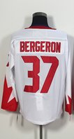 Wholesale Men s World Cup Hockey Patrice Bergeron White Player Jersey
