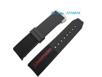 Wholesale Curved Black Buckles - Free Shipping 22mm NEW Men's Black Diver Silicone Rubber deployment clasp buckle Curved end Watch Band Strap For OMEGA Watch