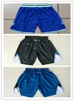 Wholesale Top Auality For Cheap Mens Minnesota Basketball Shorts In Blue Black Hot Sale