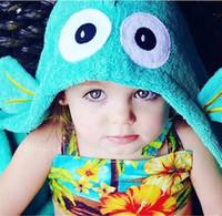 Wholesale Baby Bath Towel Hooded Kids Children Bathrobes Toddler Boy Bath Robes Baby Bath Robes Kids Beach Towels Elephant Cotton Bath Towel