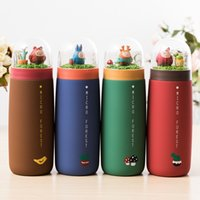 Wholesale Lovely princess micro landscape forest stainless steel vacuum cup creative contracted portable cups