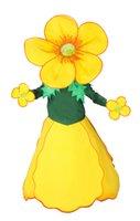 beautiful free themes - Beautiful Yellow Wild flower Mascot Female Costume Adult Size Cartoon Flower Theme Anime Cosply Costumes Performance Fancy Dress