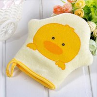 Wholesale 2016 new Cute Baby Bath Sponge Cartoon Super Soft Cotton Brush Rubbing Towel Ball Colors New Arrival Washcloths Wash Gloves