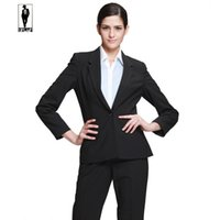 Wholesale 2016 UR Hot Autumn Bussiness Formal Elegant Women Suit Set Blazers Pants Office Suits Ladies Pants Suits Trouser Suits Handmade Hot