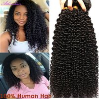 Wholesale Clip In Human Hair Extensions Brazilian Mongolia Natural Black Color B Afro Kinky Curly g set Full head