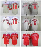 angels baseball uniform - Los Angeles Angels Andrelton Simmons Jersey Flexbase Cool Base David Freese Baseball Jerseys LA Angels White Grey Red Team Uniforms