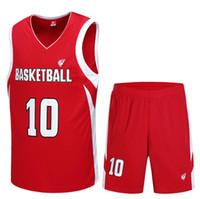Wholesale 2016 New Pattern Suit Basketball Training Serve Ventilation Jersey Men s Outdoors Athletic Wear Customized Wod Shorts Men