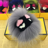 bags boutique - Racoon fur accessories boutique bags high quality Sable little monsters Ball pendant fur handbag bag charms key rings