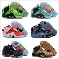Wholesale Authentic Children Kids New Cheap Basketball Shoes Men Boots LeBron Sneakers Original LB XII Hot Sale Sports Shoes Size