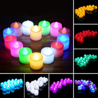 Wholesale table mini tea light battery color candle light fish tank flowerpot wedding Christmas holiday electronic candle