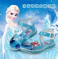 Wholesale 2016 new summer girls sandals Frozen Princess shoes Baby Shoes comfortable soft bottom cartoon children s shoes Year girl sandals Little g