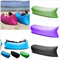 Cheap Lamzac Hangout Fast Inflatable Lounger Air Sleep Camping Sofa KAISR Beach Nylon Fabric Sleeping Bag Bed Lazy Chair outdoor DHL Free Shipping