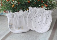 Wholesale Top quality Kids New Born Gloves pair months Baby Gauntlets Anti Catch Gloves Gauze Cotton