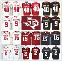 aggies sports - Stitched NCAA Texas Aggies College Von Miller Johnny Manziel Myles Garrett Ricky Seals Jones Football Jersey Sport Retro Throwback