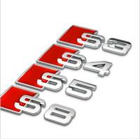 audi metal logo - 3D Aluminum Alloy S3 S4 S5 S8 S Line Car Tail Sticker Emblem Badge Logo Metal Rear Tail Badge Sticker Logo For Audi Car Emblem
