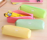 beautiful artists - YYYYAAAA Cute candy colored jelly beautiful bow pencil bags pencil school student artists Artists upscale fine