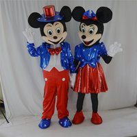 adult pair halloween costumes - US factory direct one pair of Mickey and Minnie mascot costume adult promotions COS costume Halloween costume Christmas party cartoon adult