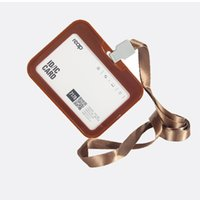 Wholesale 6PCS Acrylic ID badge holder Detachable Neck Lanyard and primary card holder with
