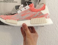 Wholesale 2016 new NMD boost NMD PK CAMO PACK NMD R1 Primeknit quot Camo quot Pack pink white Camo Boost Men Sports Running Shoes