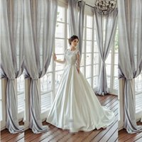beautiful quarters - Beautiful Three Quarter Sleeve A line Wedding Dress With Pocket Nicest Pricess Wedding Dress In