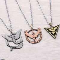 animal camp games - Hot sell pendant necklaces popular Game Three camps necklaces Bird logo pendant necklaces